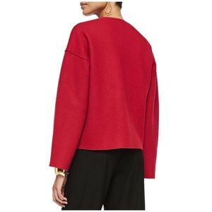 Eileen fisher boiled wool jacket coat red